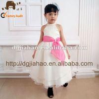 New design fashion halter kids clothes/girl dress for wedding
