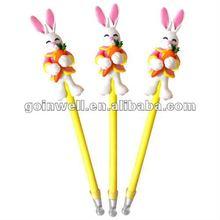 fancy rabbit polymer clay pen