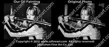 New arrival Kill Bill POP art style handmade famous movie star oil painting