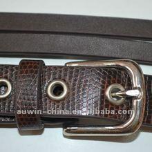New arraival womens snake skin artifical leather belt