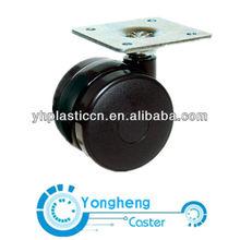 plastic twin wheel swivel caster