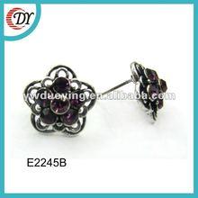 2014 fashion flower stud earrings