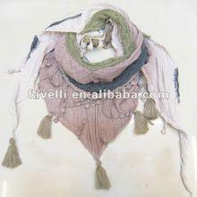 2012 New Fashion Cotton Triangle Spring Scarf