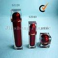 Envases y Frascos de Loción Cadrados de Aclirico Cristalino Apariencia de Vidrio