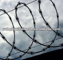 razor barbed wire frontier post