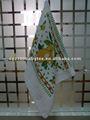 100% ليمونالسرة جاف أصفر القطن تيري منشفة مع الأوراق الخضراء