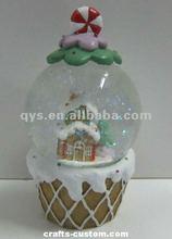 Polyresin Ice-cream cone Shape Snow Globe