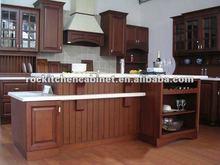 Retro Coffee Solid Wood kitchen cabinet
