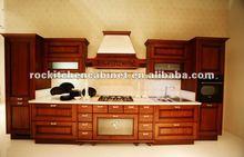 Modern Red Solid Wood kitchen cabinet