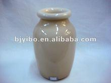 Cylinder shape purple color glass vase