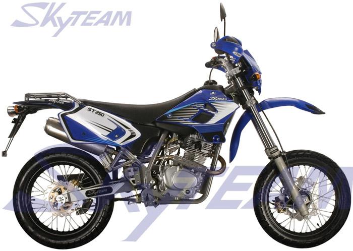 "SKYTEAM 250cc 4 STROKE SM Super moto Motorcycle (EEC EURO III EURO3 Approval,17""/17"")"