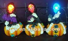 Halloween LED Ghost Sitting on Pumpkin