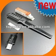 Stylist Barber Comb + Razor Shaving Hair Cut Sharper +12 Blades /w 3 Width