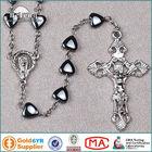 Catholic Gifts Heart Hematite Beads Black Rosary