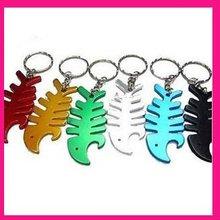fashion aluminum fish animal shape bottle opener keychain beer promotional keyring items