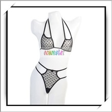 2012 Hot Selling Fishnet Women Extreme Sexy Lingerie Black