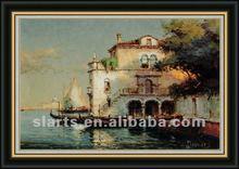 2012 New seaside scenery oil painting