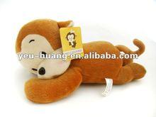 Plush sleeping monkey stuffed animal