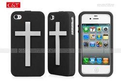 Cross design case for Iphone 4 4s