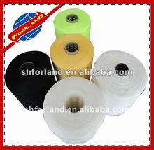 dyed 20/9 virgin ring spun polyester bag closing