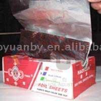 folded alu foil for food packing