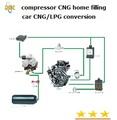 Cng/duplo gpl kits de conversão/4 6 8 cilindro carro a gasolina com motor a diesel