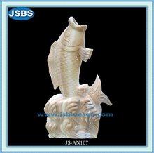Hand Carved China Stone Fish Statue 2012