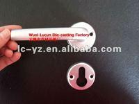 LP1020 Anodized F1 Aluminium Door handle on Rosette