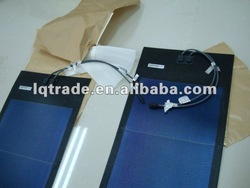 144W slim Flexible solar panel installed on roof