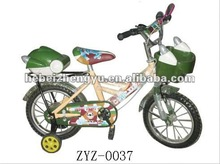 green kid bikes on sale/cheap kid bikes for sale/children bikes with auxiliary made in china