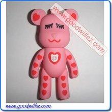 Pink Gloomy Bear USB Flash Drive 8gb with Logo