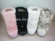 2014 fashion women fox fur snow boot