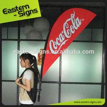 Publicidad del camino mochila bandera de la lágrima