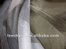 Ivory Stripe Organza Voile Curtain Tulle Fabric