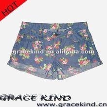 High Fashion Girl Jeans Short Pants Denim Summer Jeans(GK-SWHJ05)
