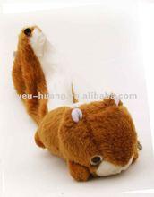 Realistic plush squirrel