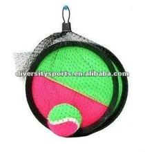 Pelota de velcro y capturas del juego/paleta pelota de playa conjunto/paleta de plástico