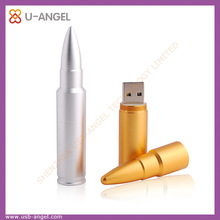 Bullet shaped stainless metal USB flash drives for army use