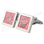 Pink Rain And Sun Jewelry Weather Cufflinks