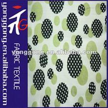 2012 new fashion Shiny circle black printing tricot knitting textile fabric