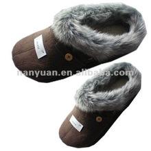 women floor indoor slipper with fox fur