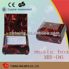 2014 hot sale luxury custom wooden jewelry mini music box