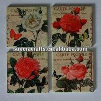Souvenir Cork Base Ceramic Mug Coasters