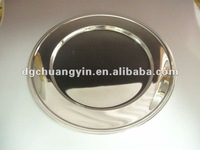 CHUANG SILVER STAINLESS STEEL SILVER PLATED metal fruit tray
