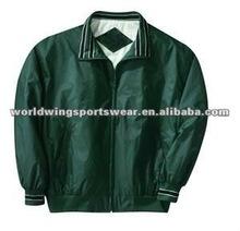 Mens green polyester nylon jacket