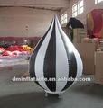 Hot item valentim decoração inflável preto e branco da lâmpada com luz led