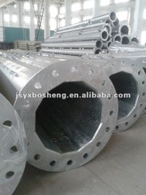 electric distribution and transmission line steel pole