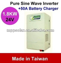 1800w 50A Pure Sine Wave dc to ac power inverter charger off grid inverter 24V 220V