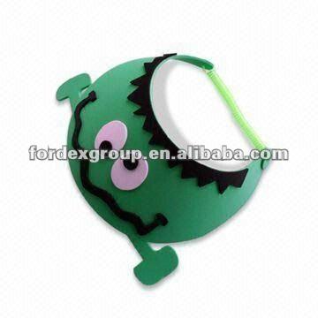 Promocional de espuma EVA visera de colores y diseño lindo, Pasado prueba en71, Adecuado para los niños