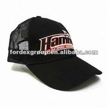 Trucker/Mesh/Sports Men's Cap with 3D Embroidery, Various Colors and Materials Accepted